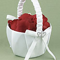"""With All My Heart"" White Basket"