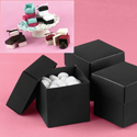 Mix-and-Match Black Favor Boxes