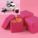 Mix-and-Match Fuchsia Favor Boxes