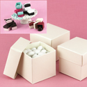 Mix-and-Match Ivory Shimmer Favor Boxes