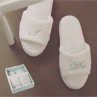 """I Do"" Slippers in Gift Box - by Mindy Weiss"