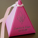 Colored Pyramid Favor Box - Basic Line