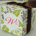 Pretty Garden Party Cube Favor Box