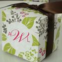 Pretty Garden Party Cube Favor Box