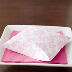 Pretty Pink Damask Pillow Favor Box