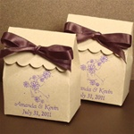 Eco-Friendly Kraft Scalloped Favor Bag