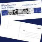Navy Custom Save the Date Card
