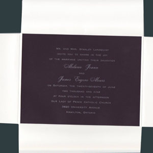 Black and White with Crisp Wrapper - Wedding Invitation Set
