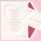 Embossed Seashells - Wedding Invitation Set