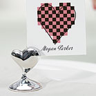 """Swish"" Heart Place Card Holders"