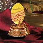 Golden Lac Boxes with Beads and Mirror