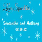 Love Sparkles Favor Cards