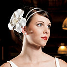 White Satin Wrapped Headband