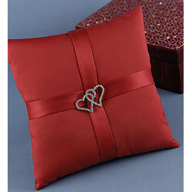 """With All My Heart"" Red Pillow"
