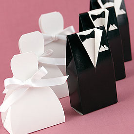 Formal Favor Boxes - Wedding Dress