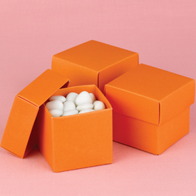 Mix-and-Match Orange Favor Boxes
