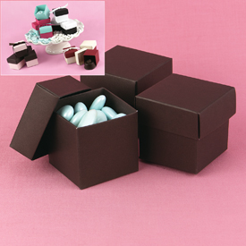 Mix-and-Match Espresso Favor Boxes