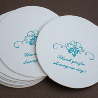 Personalized Round Drink Coaster