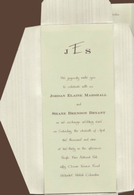 Sassy Celadon Wedding Invitation Set