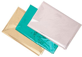 Package of 5 Metallic Foil sheets