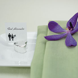 Silver Classic Heart Place Card Holders