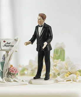 """Surprised Groom"" Mix & Match Cake Topper"