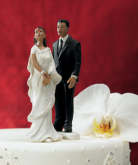 Indian Groom in Contemporary Suit Mix & Match Cake Topper