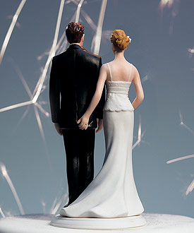 """The Love Pinch"" Bridal Couple Figurine"