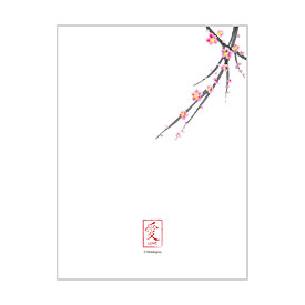 Cherry Blossom Blank Note Card