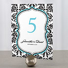 Love Bird Damask Table Number